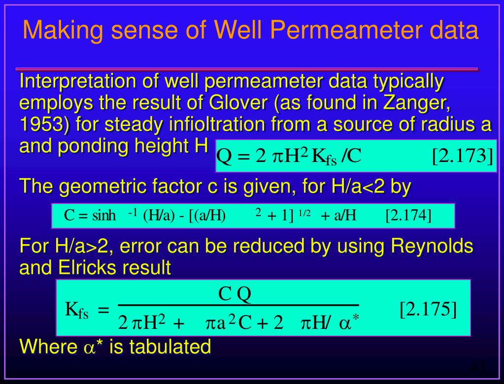 Making sense of Well Permeameter data