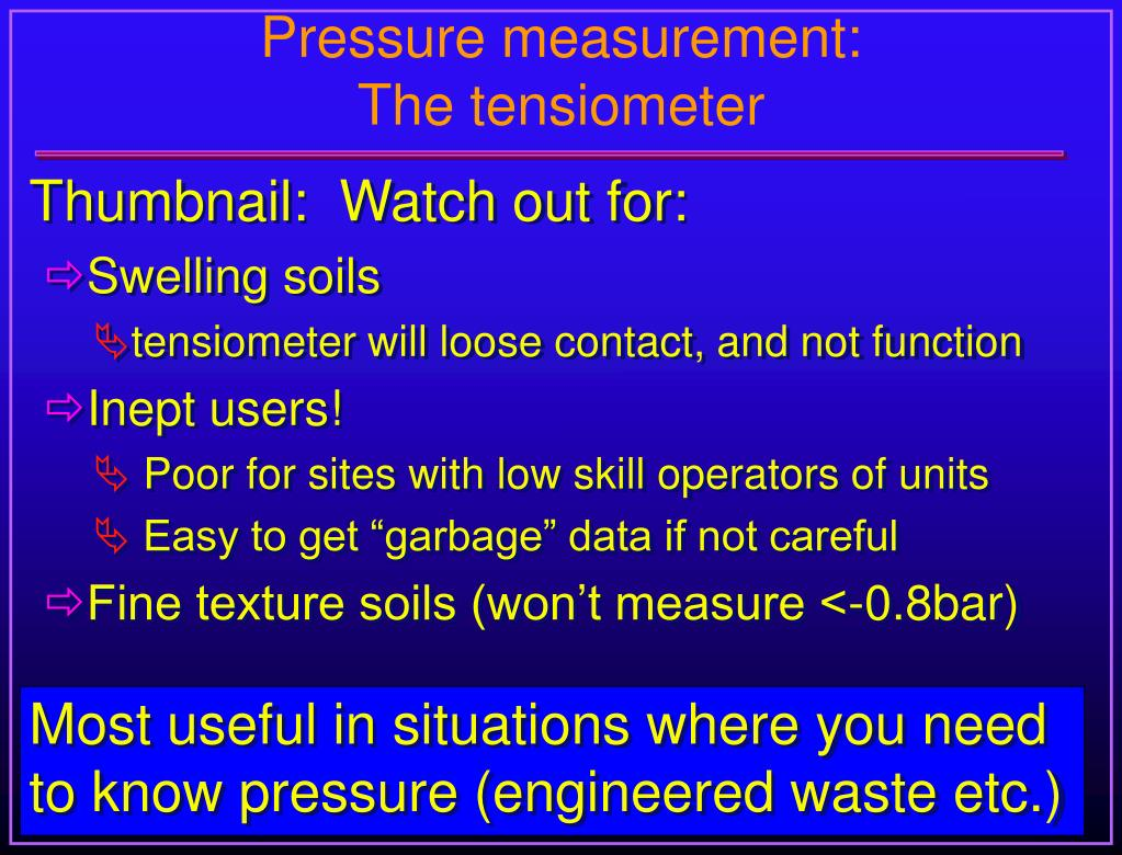 Pressure measurement: