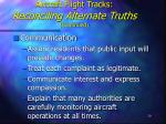 aircraft flight tracks reconciling alternate truths continued20