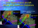 john wayne airport aircraft arrival and departure operations