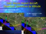 john wayne airport aircraft departure operations by altitude