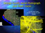orange county aerial photograph and flight tracks