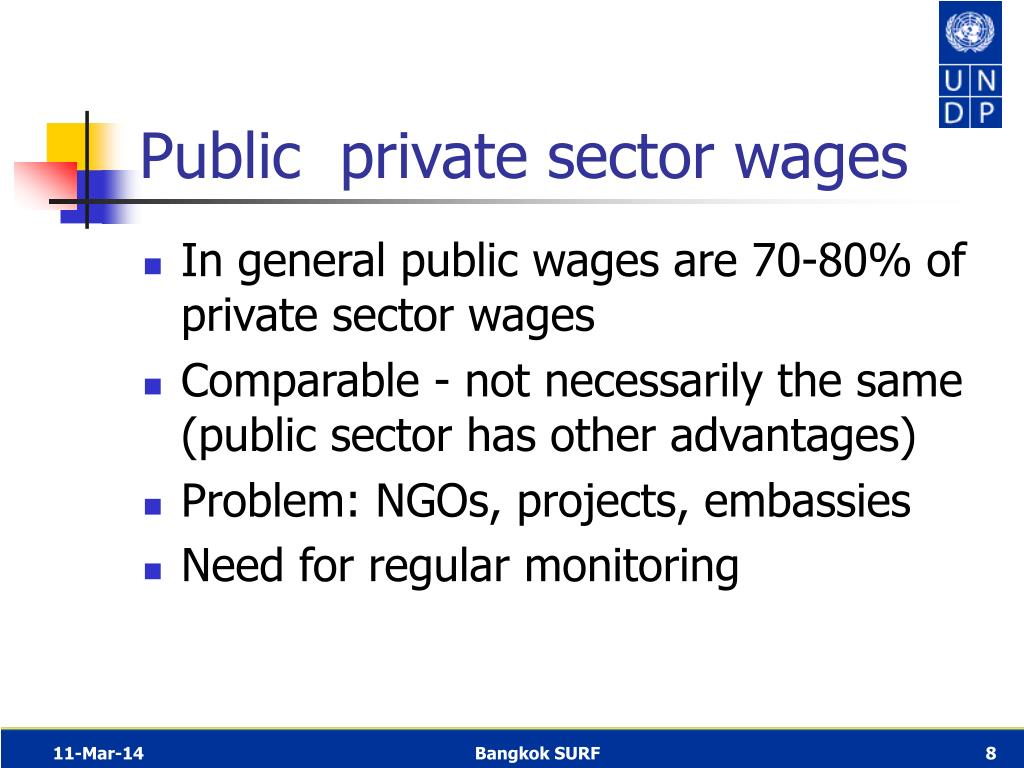 Public  private sector wages