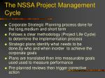 the nssa project management cycle