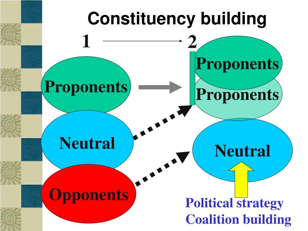 Constituency building