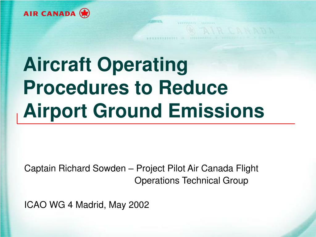 Aircraft Operating Procedures to Reduce Airport Ground Emissions