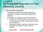 an integrated approach to fuel efficiency cont d