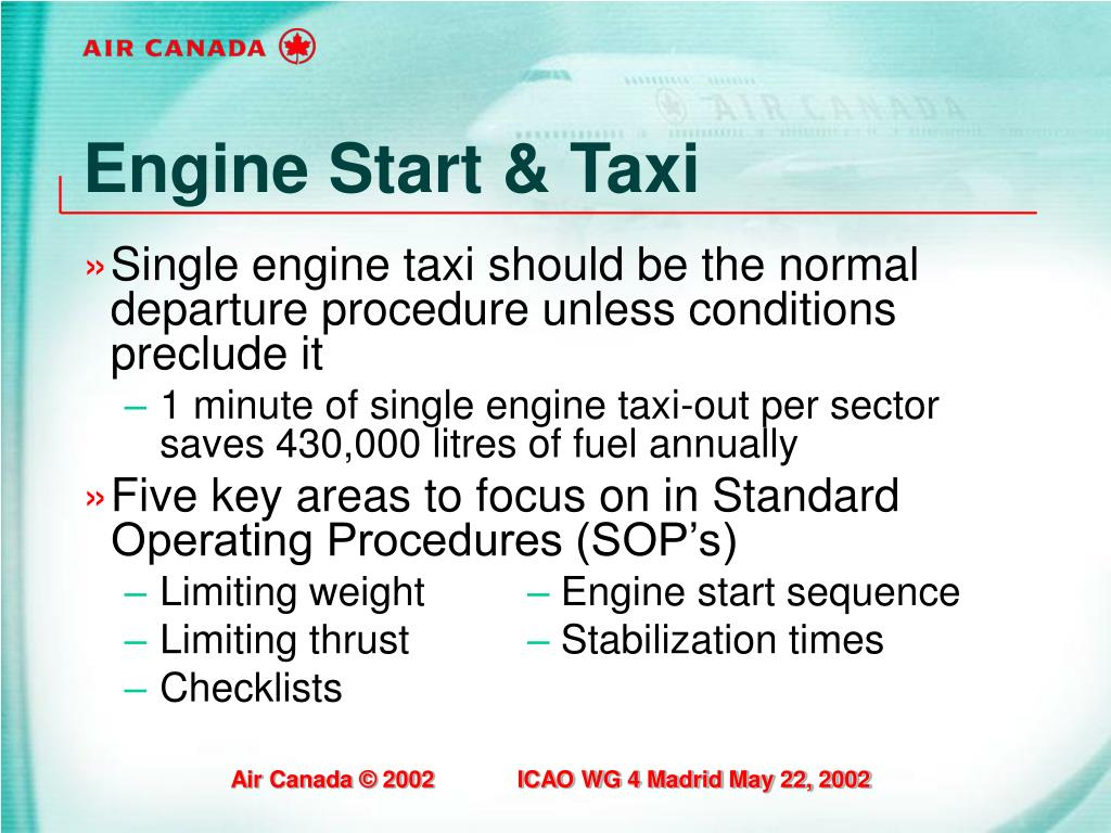 Engine Start & Taxi