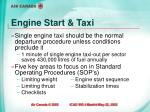 engine start taxi