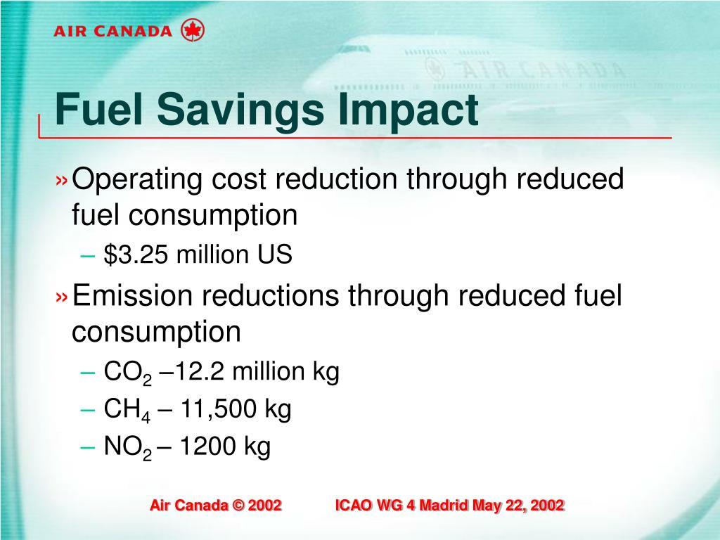 Fuel Savings Impact