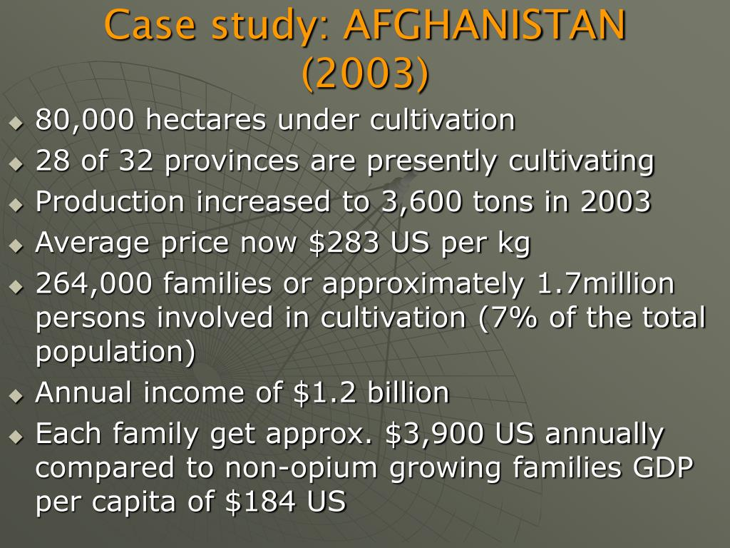 Case study: AFGHANISTAN (2003)