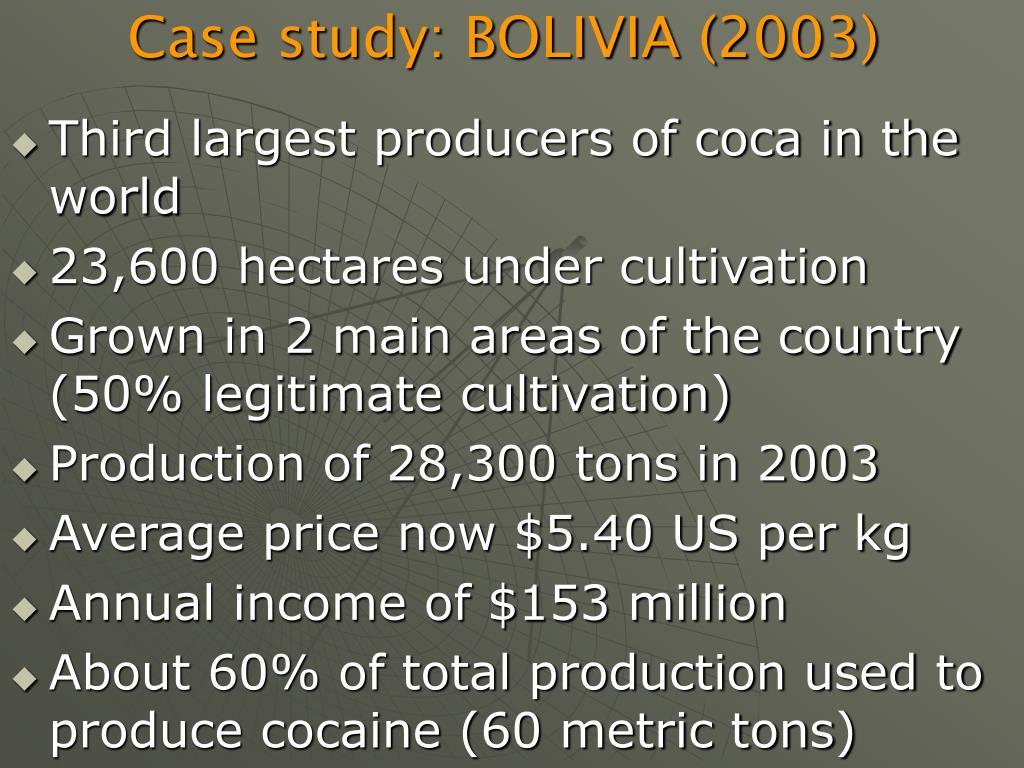 Case study: BOLIVIA (2003)