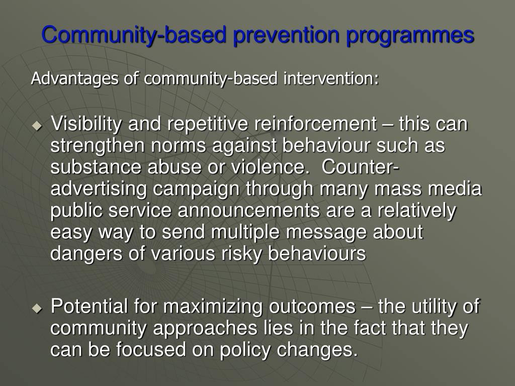 Community-based prevention programmes