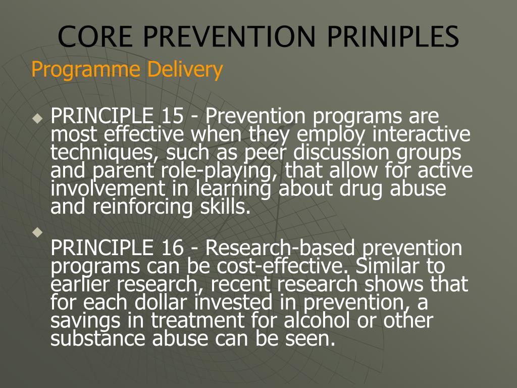 CORE PREVENTION PRINIPLES