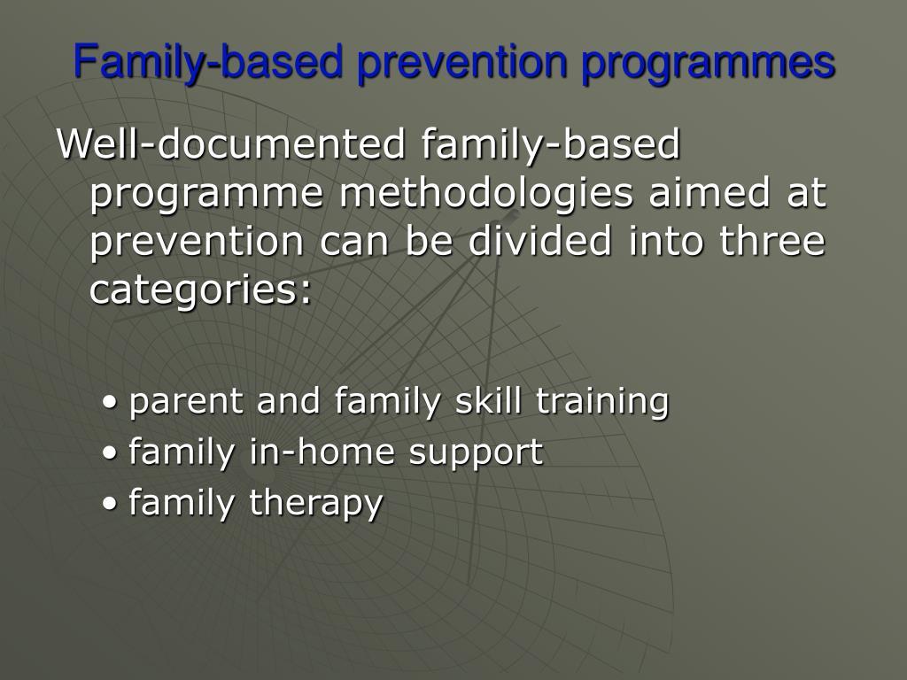 Family-based prevention programmes
