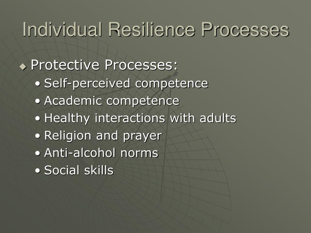 Individual Resilience Processes