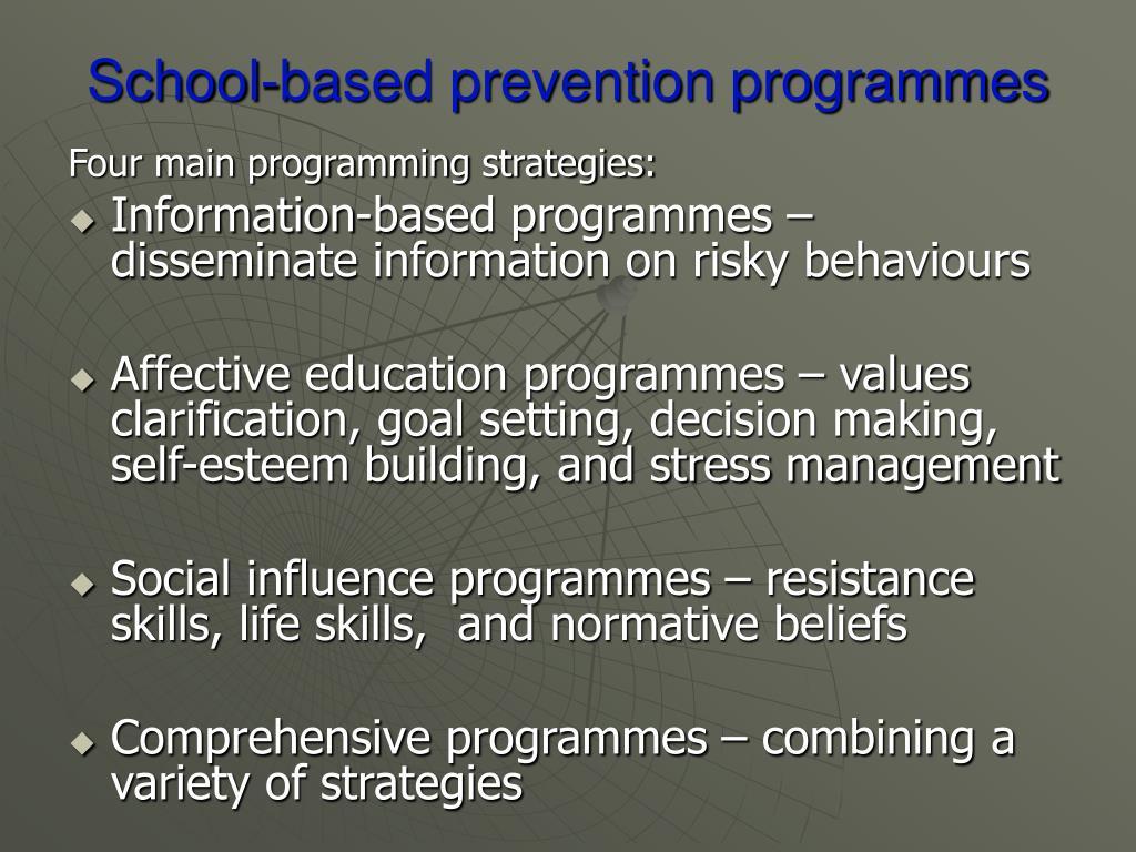 School-based prevention programmes