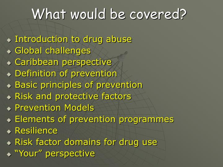 What would be covered