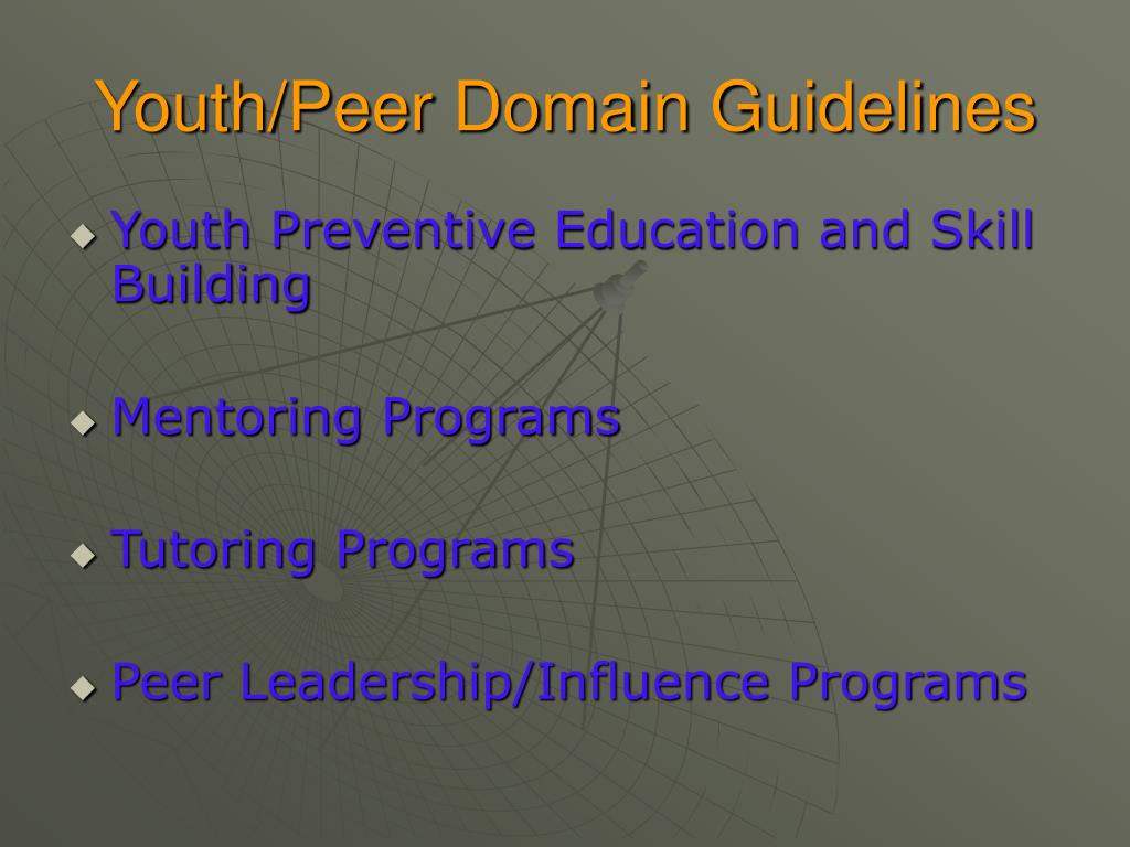 Youth/Peer Domain Guidelines