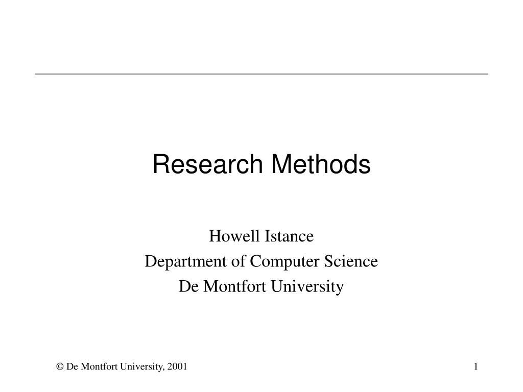 research methods l.