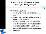 ethical and societal issues privacy what privacy182
