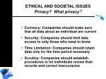 ethical and societal issues privacy what privacy184