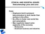 ethical and societal issues telecommuting pros and cons188