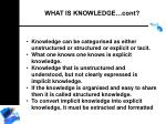 what is knowledge cont