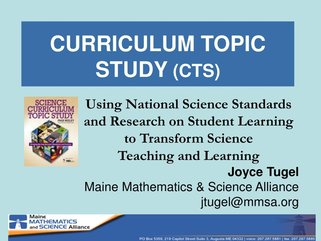 curriculum topic study cts l.