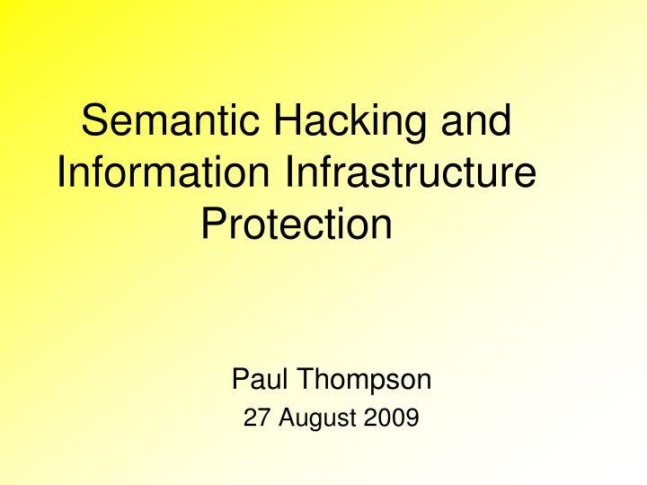 presentation or essay on hacking