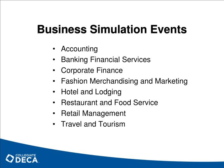 Business Simulation Events