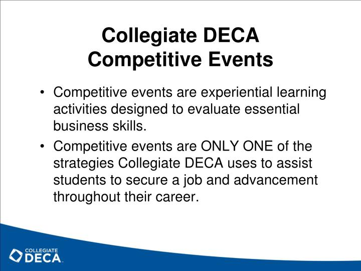 Collegiate deca competitive events