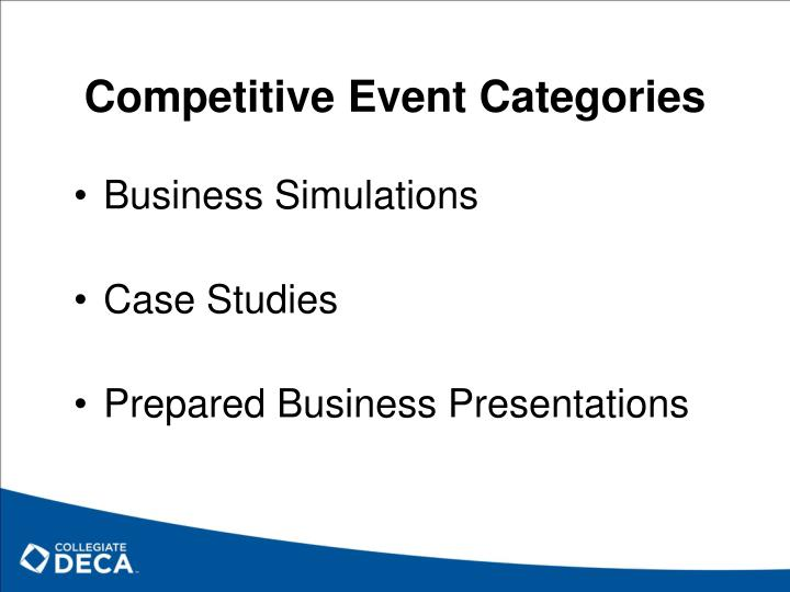 Competitive Event Categories