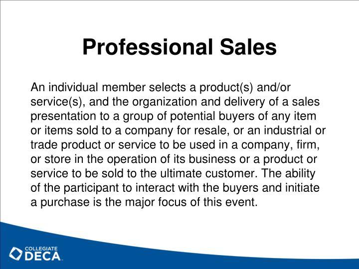 Professional Sales
