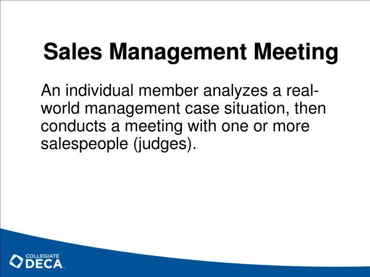 Sales Management Meeting