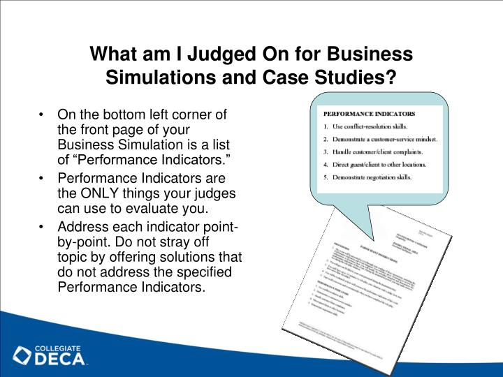 What am I Judged On for Business Simulations and Case Studies?