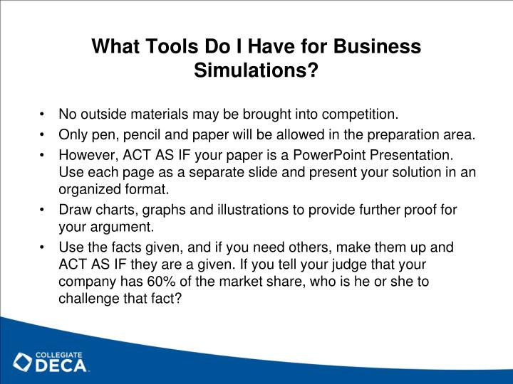 What Tools Do I Have for Business Simulations?