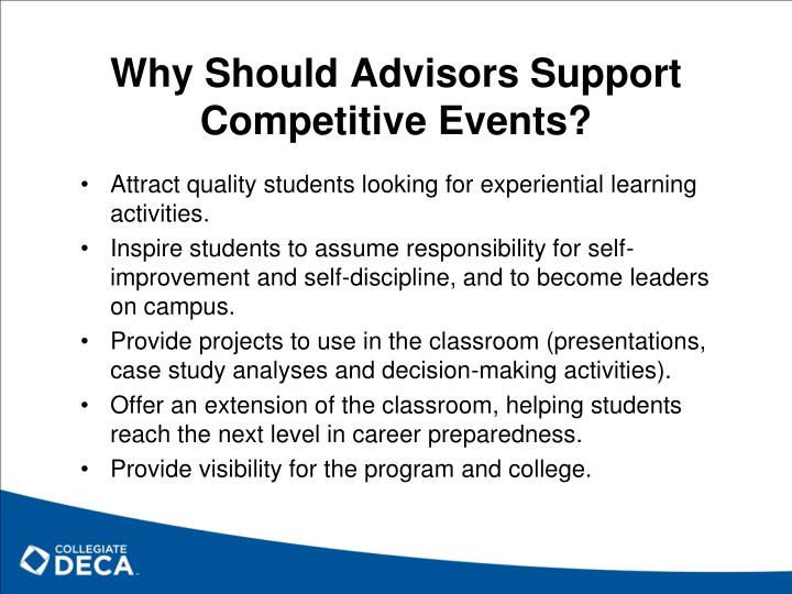 Why Should Advisors Support