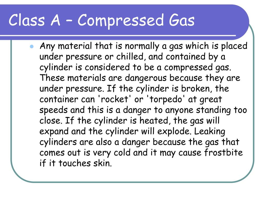 Class A – Compressed Gas