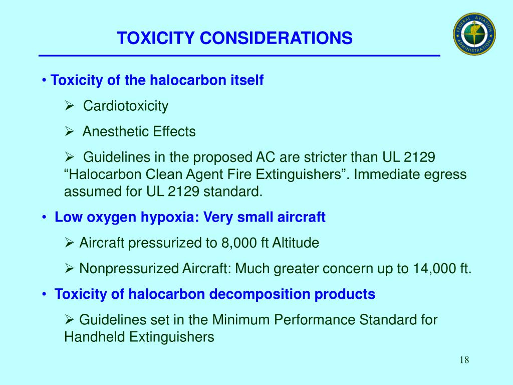 TOXICITY CONSIDERATIONS