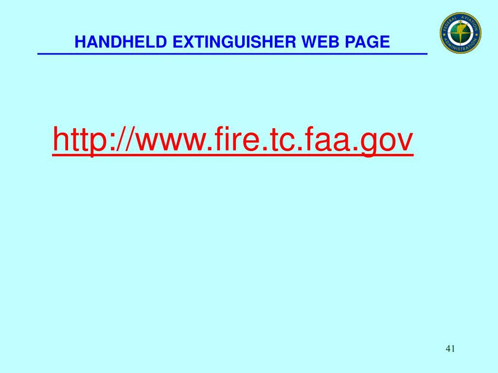 HANDHELD EXTINGUISHER WEB PAGE