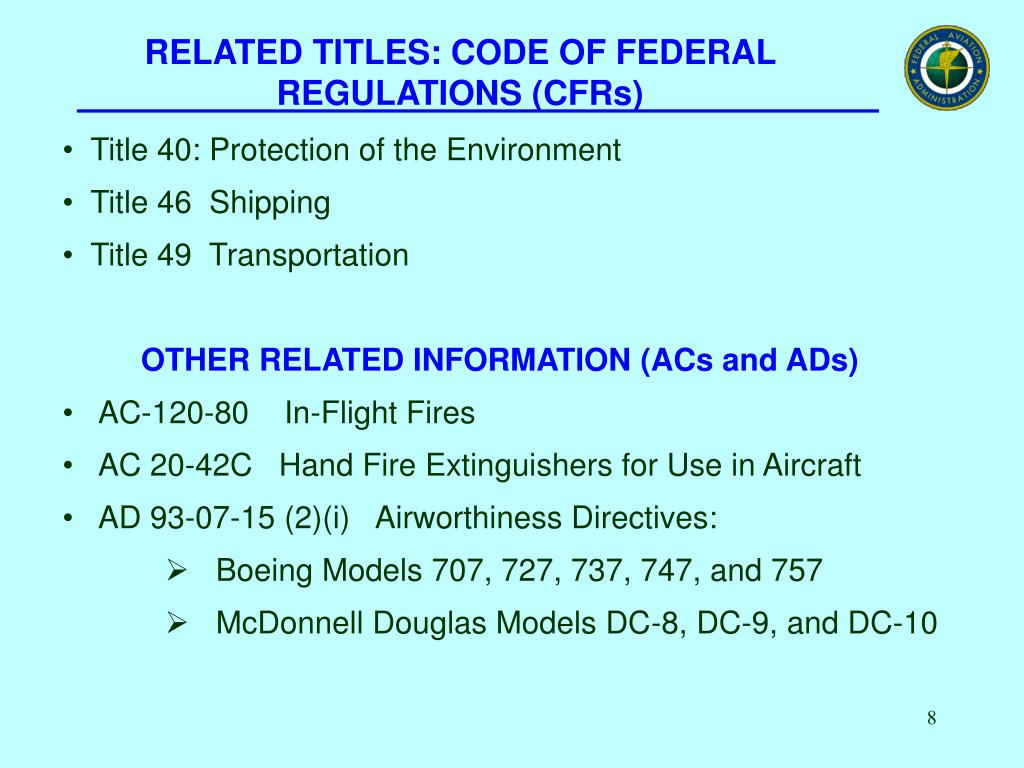 RELATED TITLES: CODE OF FEDERAL REGULATIONS (CFRs)