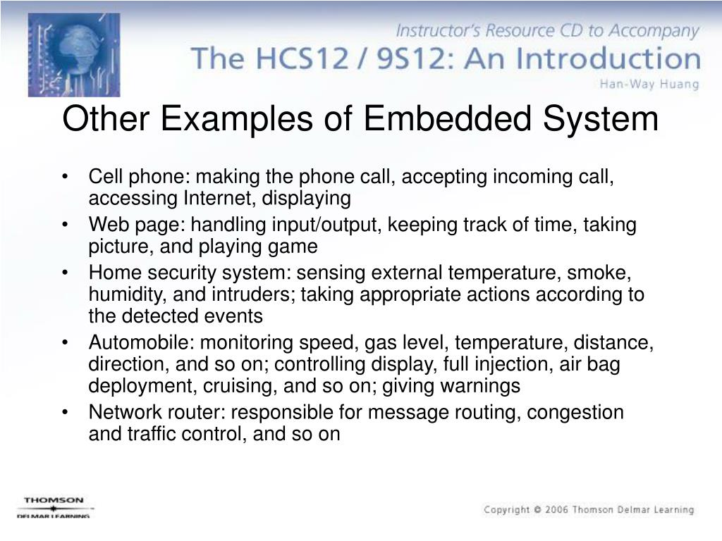 Other Examples of Embedded System
