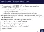 ads b out airbus position