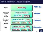 ads b roadmap industrial aspects
