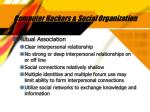 computer hackers social organization