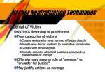 hacker neutralization techniques31