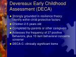 devereaux early childhood assessment deca