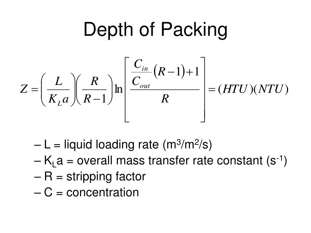 Depth of Packing