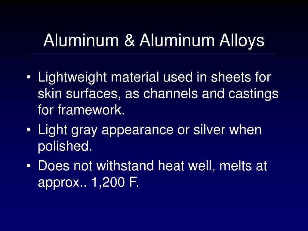 Aluminum & Aluminum Alloys